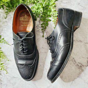 Grenson Harrow Black Leather Wingtip Brogue Oxford
